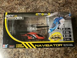 Sky Rover Navigator Series Indoor Radio Remote Control Red Helicopter RC NEW $23.70