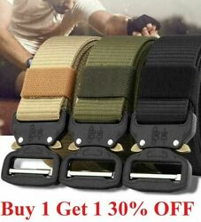 New Military Tactical Belt Mens Army Combat Waistband Rescue Rigger Belts 125CM $8.89
