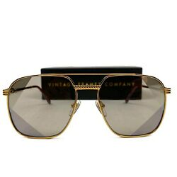 Vintage Frames Company Narcos Masterpiece 18KT Gold Picasso Sunglasses $269.00