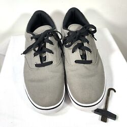 Heelys Size 12 Mens Launch grey Canvas 770157 Skate Shoes $59.95