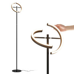 LED Floor Lamp Modern Standing Pole Light Dimmable Torchiere Touch Control Black $65.99