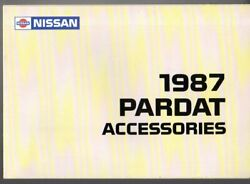 Nissan Pardat Car amp; Commercial Accessories 1987 UK Market Foldout Brochure