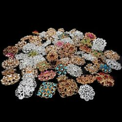 Crystal Brooch Lot Mixed Vintage Alloy Rhinestone Pin Wedding Bouquet DIY Kit US $9.97