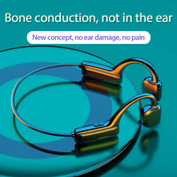 Bone Conduction Headphones Bluetooth 5.1 with Mic Open Ear Running Driving $14.32