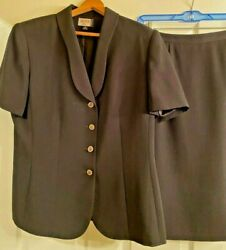 Kasper A.S.L. Black Skirt Suit Size 14 $18.00