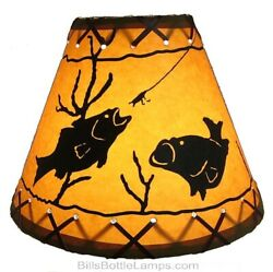 NEW Rustic quot;Bulb Clipquot; Country Cottage Cabin Lodge Table Light LAMP SHADE Laced $22.99