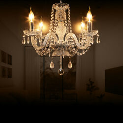Modern 4 Arms Clear Crystal Chandelier Ceiling Light Pendant Lighting E12 $47.55