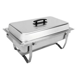 Buffet Chafer Set Foldable Frame Countertop Stainless Steel Full Size 8 Qt New $68.82