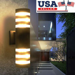 Modern LED Up Down Wall Light Sconce Dual Head Lamp Waterproof Outdoor Fixtures