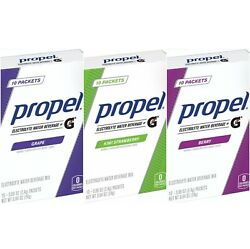 Propel Electrolyte Powder Packets 3 Pack: Berry Kiwi Strawberry Grape $13.99