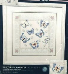 NEW Stamped Sunset Crewel Embroidery Butterfly Passion 14 x 14quot; Kit #11124 $16.90