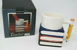 Vintage 1992 Novelty Teacher Pencil Coffee Cup Mug 2 D Fred Hollinger New Box $24.00