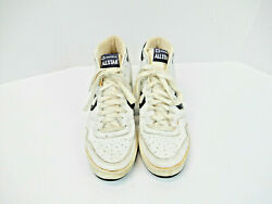 Vintage Converse All Star White Blue Leather Basketball 1980s Size 9 IG8404 Rare $220.00