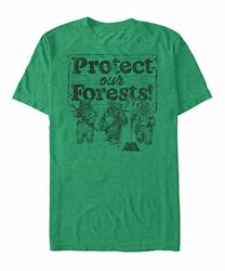 Tultex Mens Star Wars #x27;Protect Our Forest#x27; Ewok Tee XXL $14.99