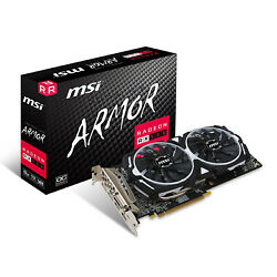 MSI Radeon RX 580 DirectX 12 RX 580 ARMOR 8G OC 8GB 256 Bit GDDR5 PCI Video Card $189.99