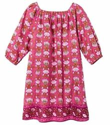 Girls#x27; Happy by Pink Chicken Floral 3 4 Sleeve Tent Dress Fandango Pink 5Y $5.00
