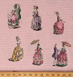 Cotton Colorful Dresses Old Style Dresses Pink Fabric Print by the Yard D787.87 $11.95