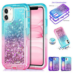 Glitter Liquid Case For iPhone 11 Pro XR Xs Max 678 X Quicksand Heavy Duty Cover $9.99