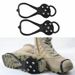 Ice Snow Anti Slip Spikes Grips Grippers Crampon Cleats For Shoes Boot Overshoe $5.59