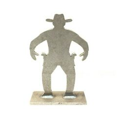 """AR500 Cowboy Silhouette Steel Knock Over Target 12""""X 8""""X 3 8"""" $45.00"""