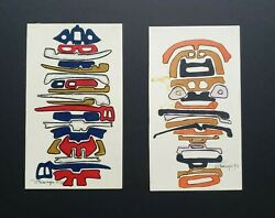 Vintage Mary Preminger Modernist drawing artwork Googie Style 70s 1970s painting $20.00