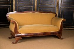 Antique Biedermeier Sofa Couch Um 1825 Mahogany $4937.91