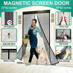 Magnetic Screen Door Heavy Duty Hands Free Mosquito Mesh Anti Bugs Fly Curtain $16.99