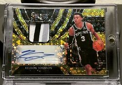 2019 Keldon Johnson Panini Select Hybrid Disco Gold 10 RPA San Antonio Spurs $400.00