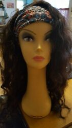 BOHEMIAN LONG CURLY QUICK WEAVE HALF WIG PONYTAIL Curling iron safe $20.00
