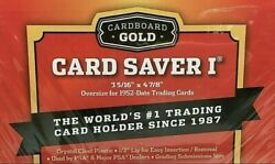 200 Card Saver 1 Cardboard Gold 4 packs of 50 IN HAND READY TO SHIP $79.98