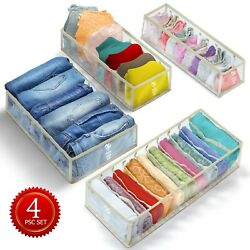 4 PCS Clothes and Underwear organizer for drawers closet organizers and storage $11.89