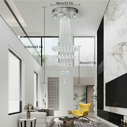 Modern Chandelier Crystal LED Ceiling Light Fixture Pendant Hanging Lamp USA $128.00