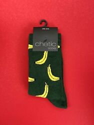 Novelty Socks Women Banana Print Green Cotton Fun Birthday Valentine#x27;s Gift GBP 5.00