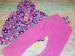 NEW 3T Girl 2 pieces 2B Real Pink with Multicolor Hooded Sweatshirt Set $6.99