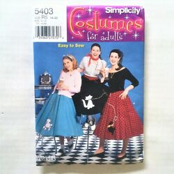 Simplicity Sewing Pattern 5403 Adult Misses Poodle Skirts 50s Halloween $5.99