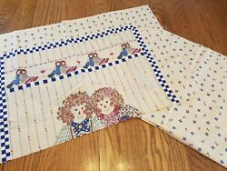 Princess Fabrics Vintage Material 2 Panels Rag Dolls Hearts Ready to Cut and Sew $12.97