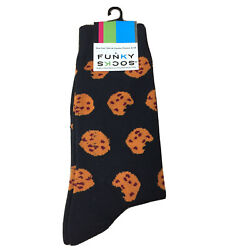 Funky Socks Cookies Novelty Size 6 12 Men's Crew New With Tags AR195 $5.95