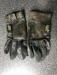 Vintage Retro Black Leather Driving Gloves Men#x27;s LARGE Tour Master Cycling 80s $18.00