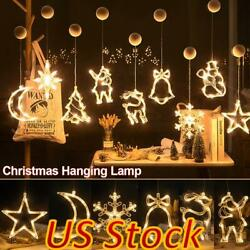 US Christmas LED Window Decor String Light Party Sucker Hook Hanging Decoration