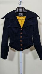 Betsey Johnson by Alley Cat for Paraphernalia 60s 70s Corduroy Jacket Size 7 8 $1199.99