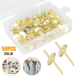 50 Piece Box Assorted Wall Photo Hanging Kit Picture Hanger Nail Hooks Fastener $10.98