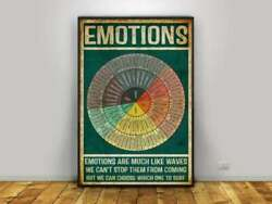 Wheel of Feelings Emotions Chart Square Poster Home Wall Decor Printing Design $16.50