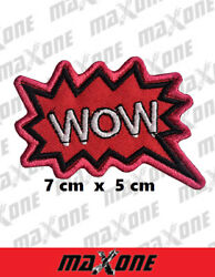 Wow iron sew on patch comic novelty batman patches embroidered badge GBP 2.49