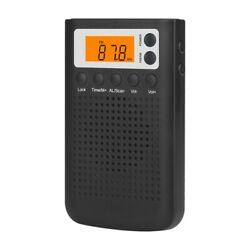 FM AM Radio Digital Mini Portable Stereo Hearing Radio for The Elderly W2X4 $13.74