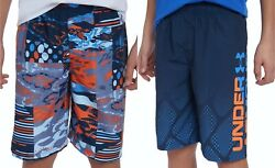 New Under Armour Big Boys Printed Swim Trunks Choose Size amp; Color MSRP $40 $21.99