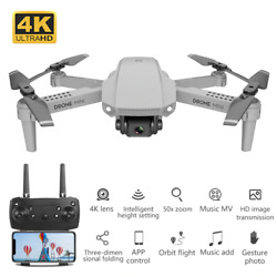 Mini Drone Camera Hd 4K Rc Helicopter Height Keep Foldable Remote Control $55.63