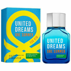 UNITED DREAMS ONE SUMMER FOR HIM of Benetton EDT 3.4oz 100ml Spray New Sealed $27.77