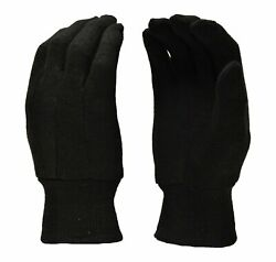G amp; F 4408L 12 Gloves Brown Jersey Heavy Weight Double Knit Large 12 Pairs Pack $12.99