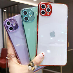 Soft Clear Case For iPhone 12 Pro Max 11 678 Plus X XR XS SE Silicone TPU Cover $6.88