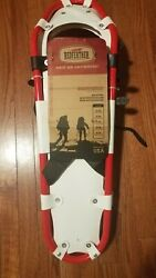 Redfeather V Tail 25quot; SnowShoes Made in USA White Vinyl deck Blk amp; Grey Design $89.00